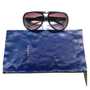 Authentic Blue Gucci 2011 Aviator Style Sunglasses